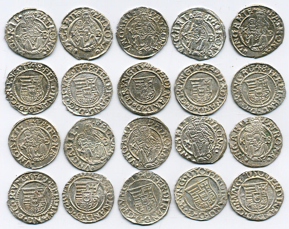 MEDIEVAL SILVER COINS WITH MADONNA & BABY JESUS